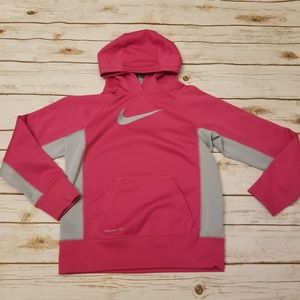 Other - ⬇️⬇️$20 Nike Therma-Fit Hoodie Pink Gray MED 10/12